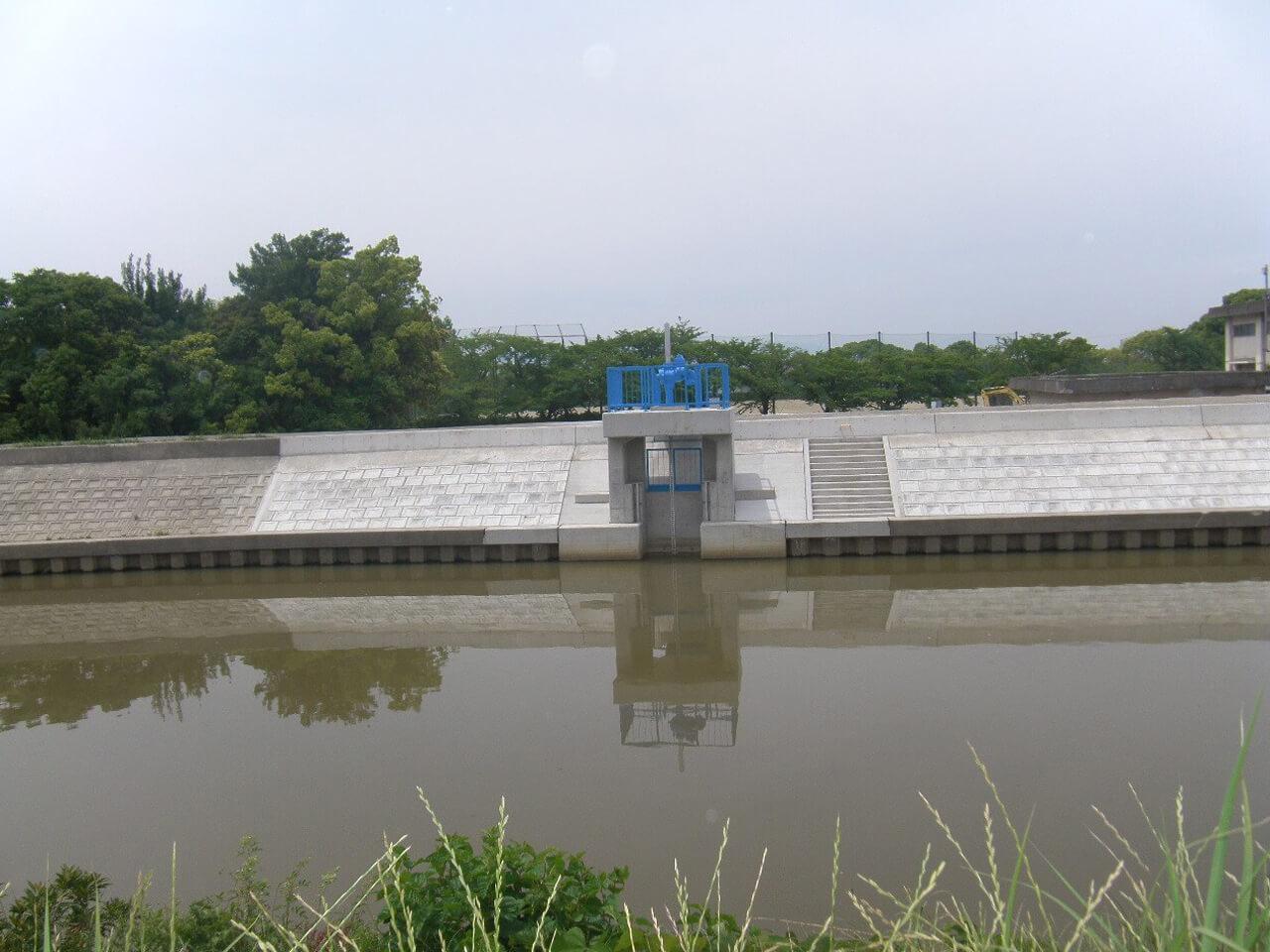 たん水防除事業 領内川右岸北部地区 開治排水機場その4工事